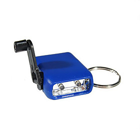 Super Mini 2-LED Dynamo Flashlight Keychain
