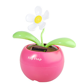 Solar Powered Flip Flap Flower Plant