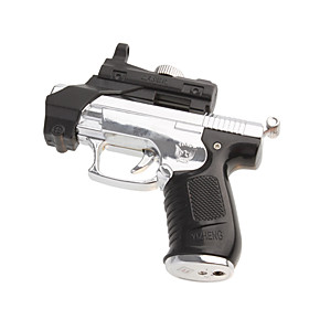 Gun Shaped Butane Jet Torch Lighter with Red Laser (Color Assorted)