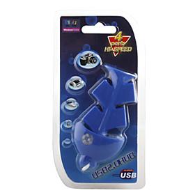 Fish Style 4 Port USB 2.0 Hub (Blue)