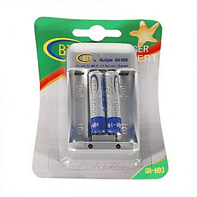 BTY-1000 Mini 1.2V AA/AAA Battery Charger with 2 AAA 400mAh Ni-MH Batteries Kit