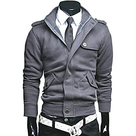 Mens Fashion Slim Fit Casual Jacket with Zipper Long Sleeve Multi Color Available