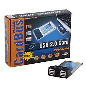 4-Port USB 2.0 PCMCIA Expansion Card for Laptop
