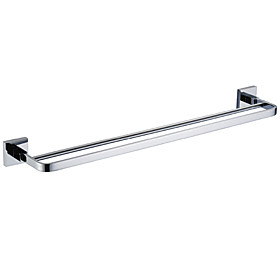 Chrome finished Solid Brass 24 Inch Double Towel Bar