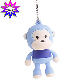 4GB Monkey Style USB Flash Drive (Purple)