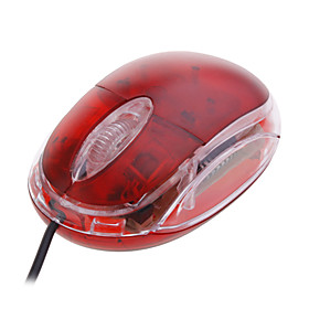 Mini USB Optical Mouse (Red)