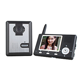 Wireless Night Vision Camera   3.5 Inch Door Phone Monitor
