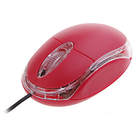 Mini USB 2.0 Optical Wired Mouse (Red)