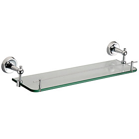 Bathroom Accessories Solid Brass Glass Shelf (0640-2509)