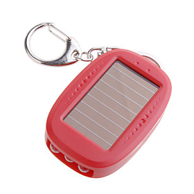 3-LED Solar Powered Flashlight Keychain
