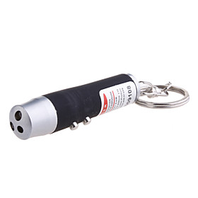 3-in-1 Red Laser   White Light   UV Light LED Flashlight Keychain (3 LR44 Color Assorted)