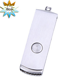 8GB Metallic Mini USB Flash Drive (Silver)