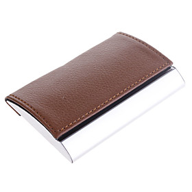 Leather Cover Business Card Case (Random Color)