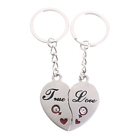 Stainless Lovers keychains ( Hearts / 2-Piece Set)