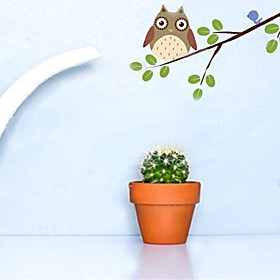 cartoon owl on branch Decorative Wall Sticker