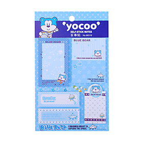 Cartoon Sticky Note Memo Pad Set (Random Color)