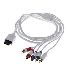 Gold Plated Component Audio and Video AV Cable for Wii - White (1.8M)