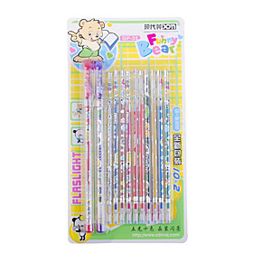 Cute Bear Glitter Gel Pen 2-Pack with 10-Pack Refills