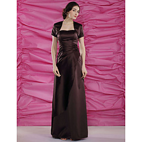 Sheath/ Column Sweetheart Floor-length Satin Mother of the Bride Dress With A Wrap