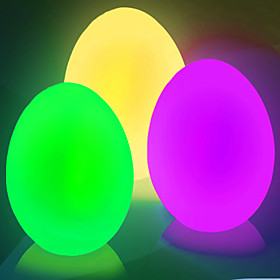 Flicker Easter Egg Shaped Color Changing Mood Night Light