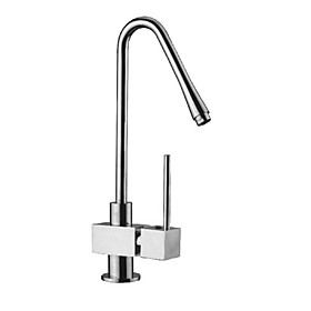 Contemporary Solid Brass Kitchen Faucet - Chrome Finish