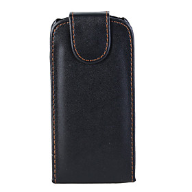 Black Leather Vertical Pouch Case For Nokia 5800