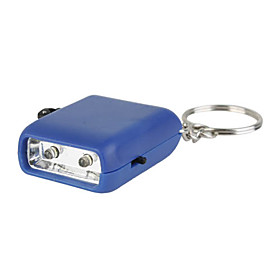 Mini 2-LED Hand-Crank Dynamo Flashlight Keychain