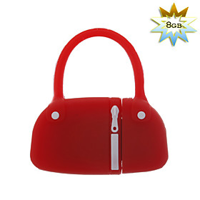 8GB Handbag Style USB Flash Drive (Red)