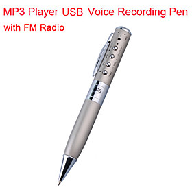 4GB MP3 Player USB Voice Recording Pen with FM Radio