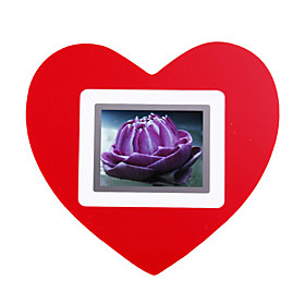 2.4-inch LCD Heart Shaped Desktop LCD Photo Frame (27-Picture Storage)
