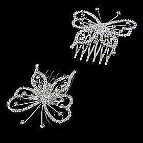 Gorgeous Clear Crystals Wedding Bridal Pins/ Flowers,2 Pieces Per Lot