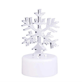 RGB Light LED Charming Snowflake Shaped Toy (3 AG13)