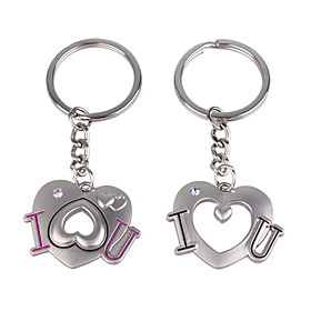 Stainless Lovers keychains (I   U / 2-Piece Set)