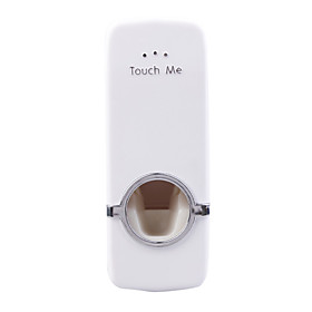 Automatic Toothpaste Squeezer with Toothbrush Holder (White)