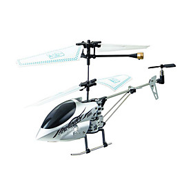 3CH RC Helicopter Alloy Body With Infrared Radio Remote Control Helicopters Indoor Toy(Silver)(YX02688S)