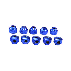 Blue Aluminum Knurled Collars 10PCS (57501B)