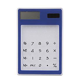 Transparent-Solar-Powered-Calculator(Blue)