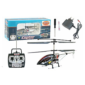3CH RC Helicopter With Gyro LED Light Radio Remote Control Helicopters Indoor Toy(Black)(YX02680K)