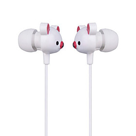 Cute Bear Stereo Earphones (White)