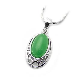Colgante Plateado Jade