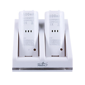 Rechargeable Battery Dock/Stand/Station for Wii   2 x 2800mAh Rechargeable Batteries