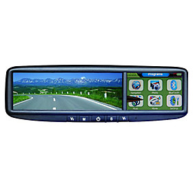 3.5 inch Touch Screen Rear View Mirror Monitor with GPS - Bluetooth - FM