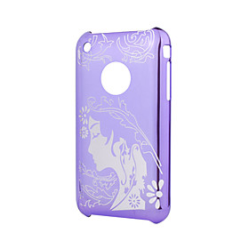 Trendy Protective Case Cover for iPhone 3G/3GS (Purple)