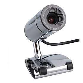 4.0 Megapixel USB Webcam   Microphone (Silver)