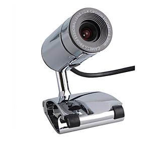 4.0 Megapixel USB Webcam  Microphone (Silver)