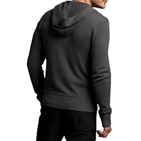 Long Sleeves Hooded Zipper Fastened Cashmere Cardigan / Men's Cashmere Sweaters (FF-C-BG0681015)