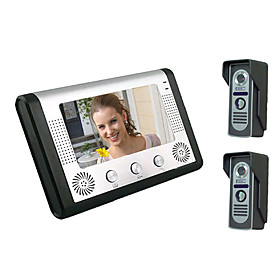 Videoportero intercomunicador inalambrico con dos - Video portero inalambrico ...