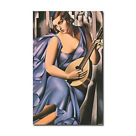 Hand-painted People Oil Painting by Tamara De Lempicka with Stretched Frame
