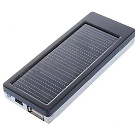Solar Powered 2000mAh Rechargeable Portable Emergency Power with Phone Adapters
