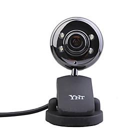 8.0 Megapixel USB Webcam  Microphone (Black)